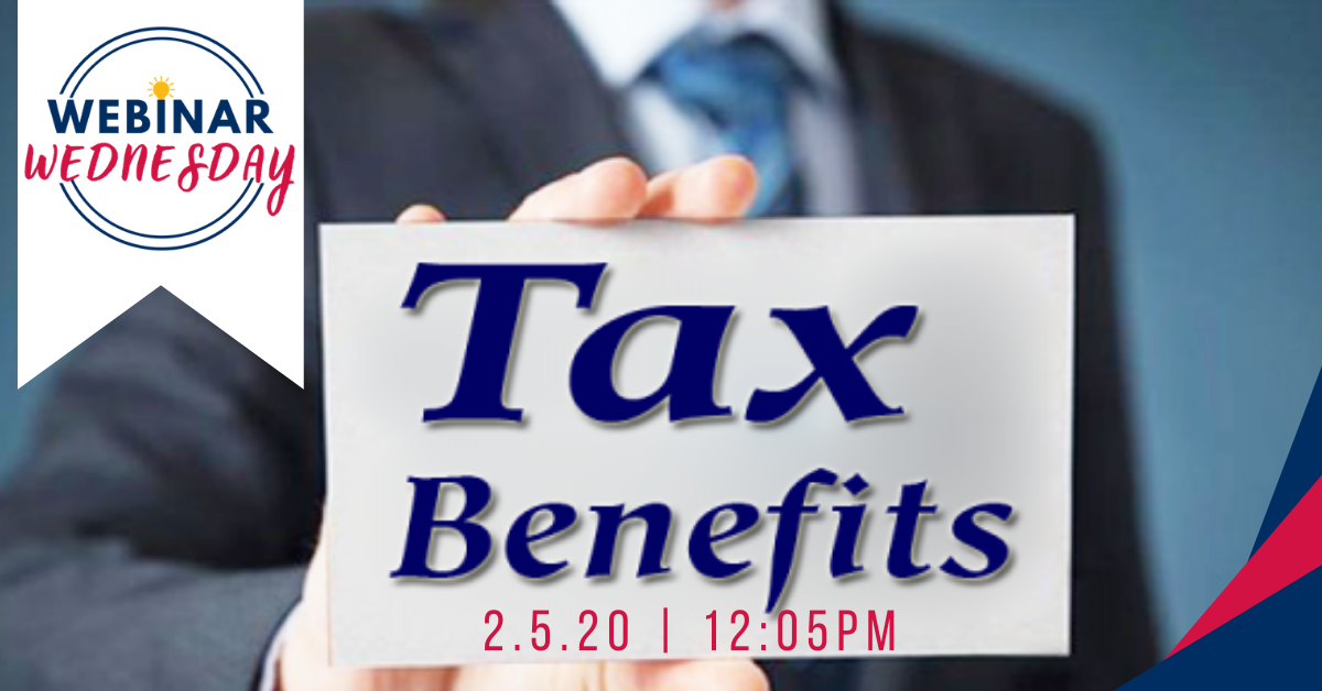 Tax Benefits for Opportunity Zones Webinar, February 5th, 2020