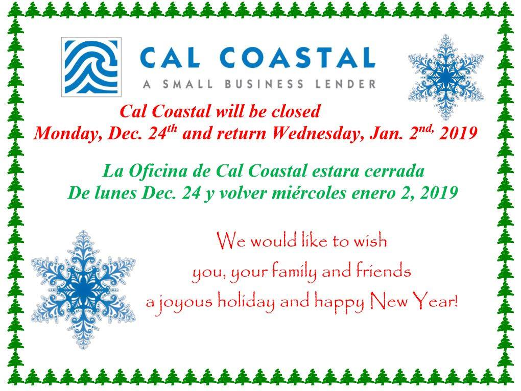 Office Closed 12/24/18 - 1/1/19  Happy Holidays! | Cal